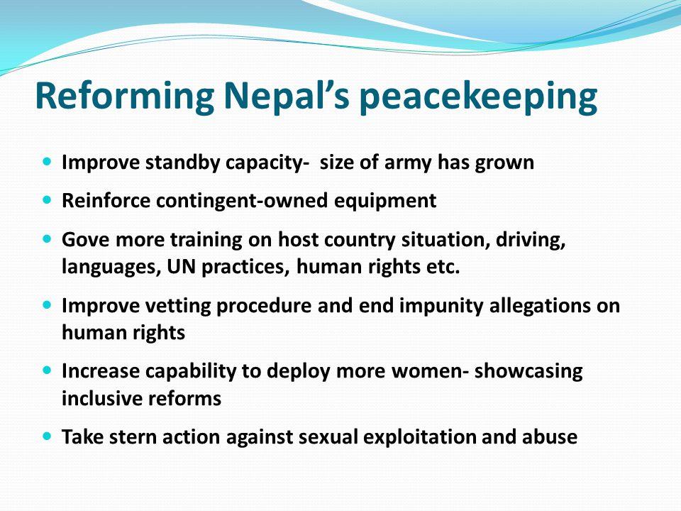 Reforming Nepal's peacekeeping