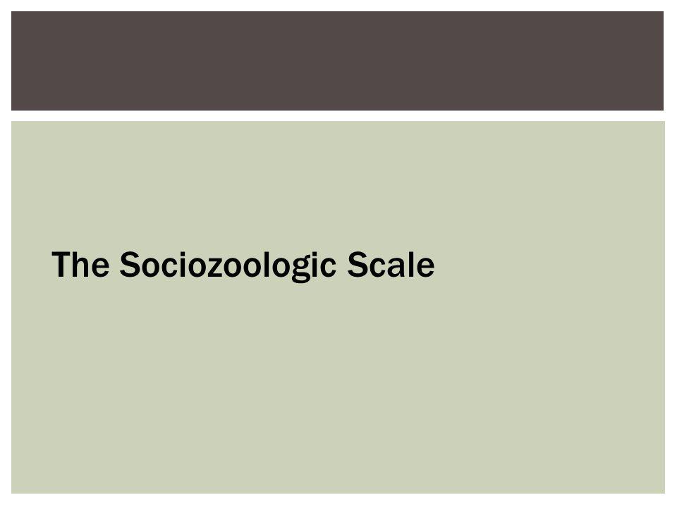 The Sociozoologic Scale