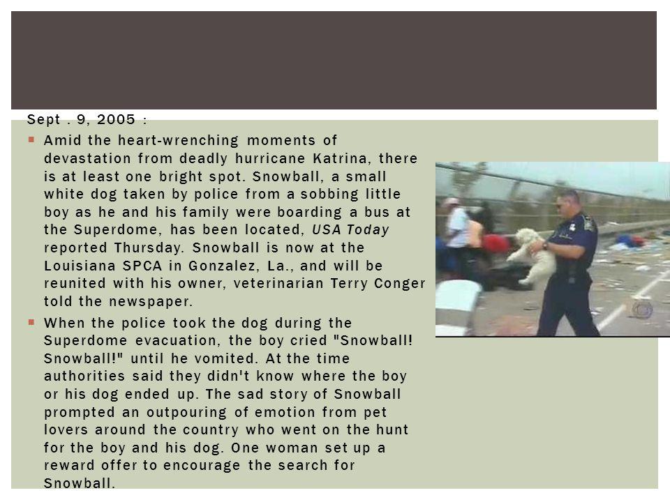 Sept . 9, 2005 :