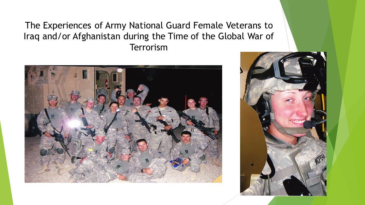 The Experiences of Army National Guard Female Veterans to Iraq and/or Afghanistan during the Time of the Global War of Terrorism