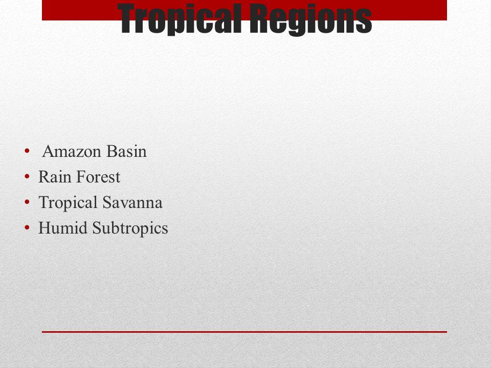 Tropical Regions Amazon Basin Rain Forest Tropical Savanna