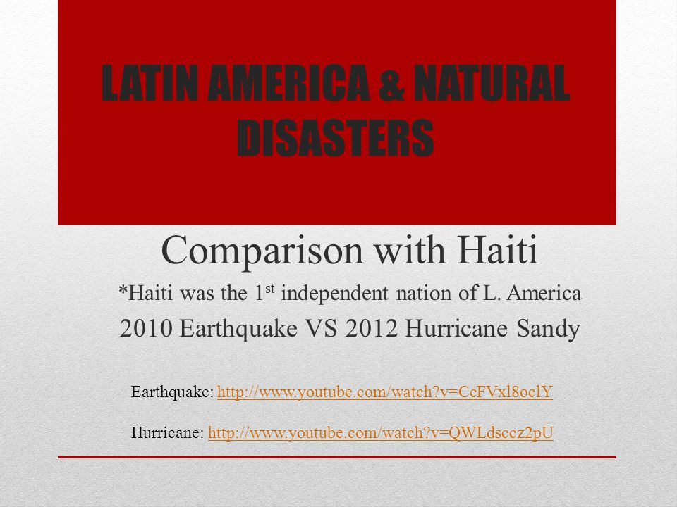 Latin America & Natural Disasters