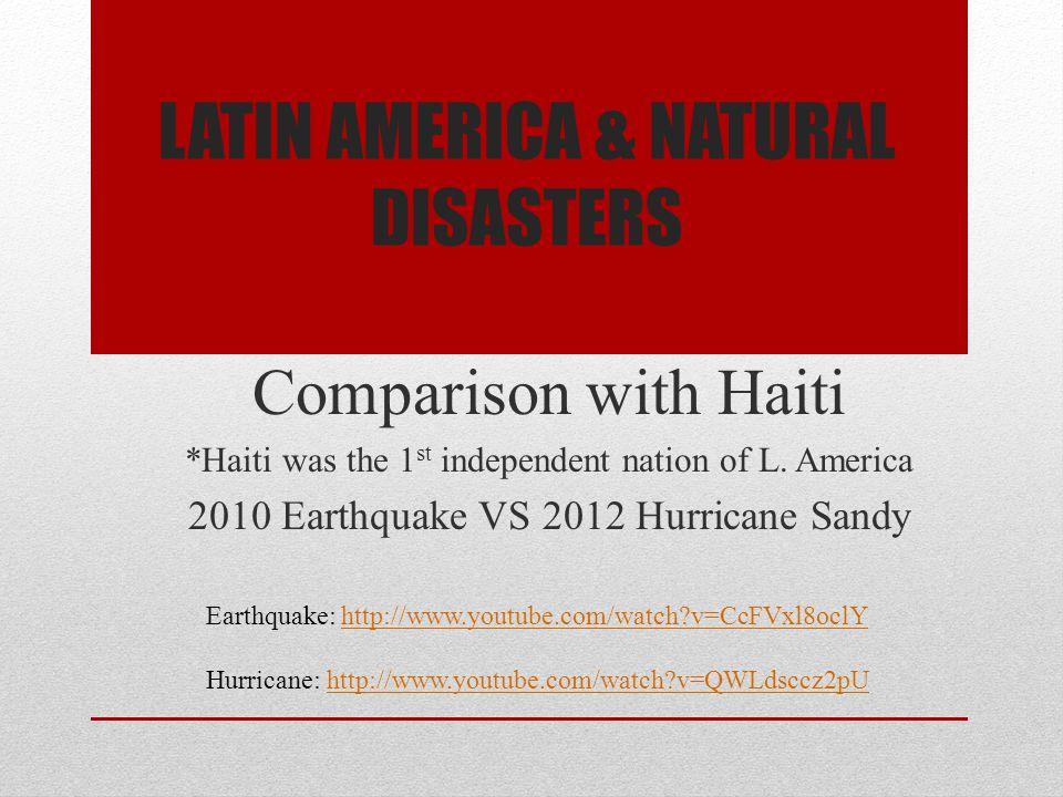 Latin America & Natural Disasters