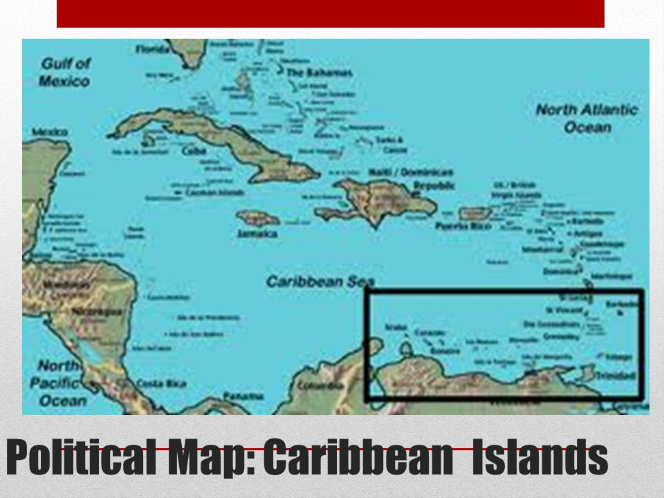 Political Map: Caribbean Islands