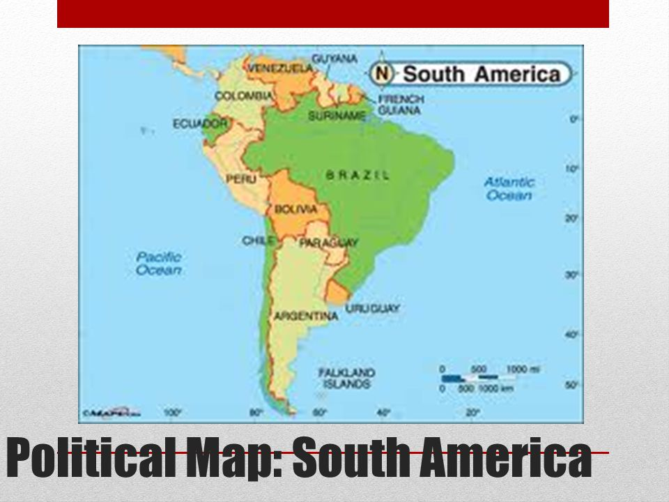 Political Map: South America