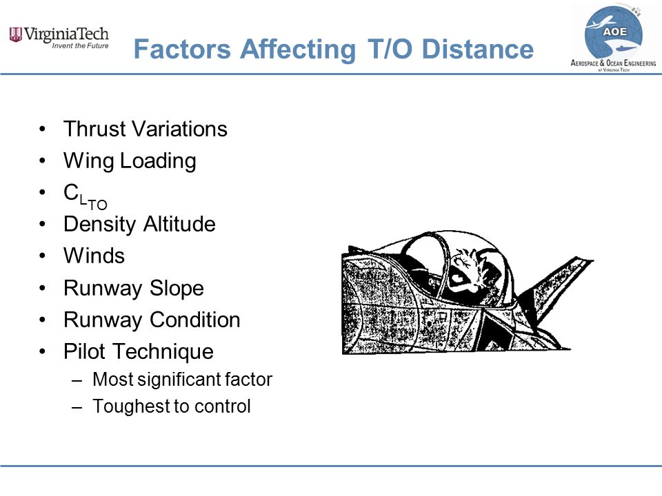Factors Affecting T/O Distance