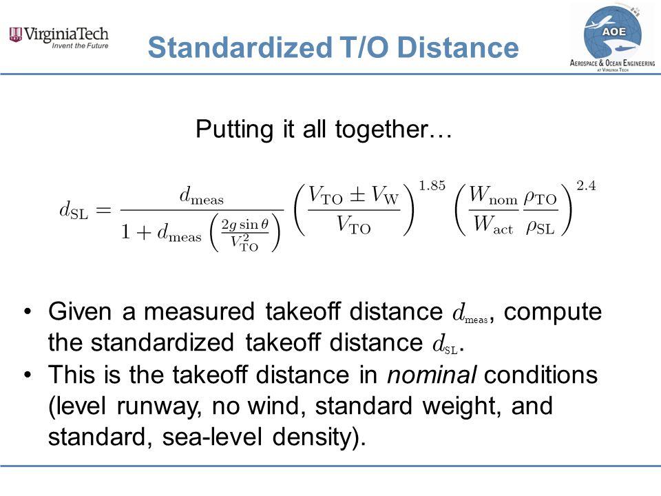 Standardized T/O Distance
