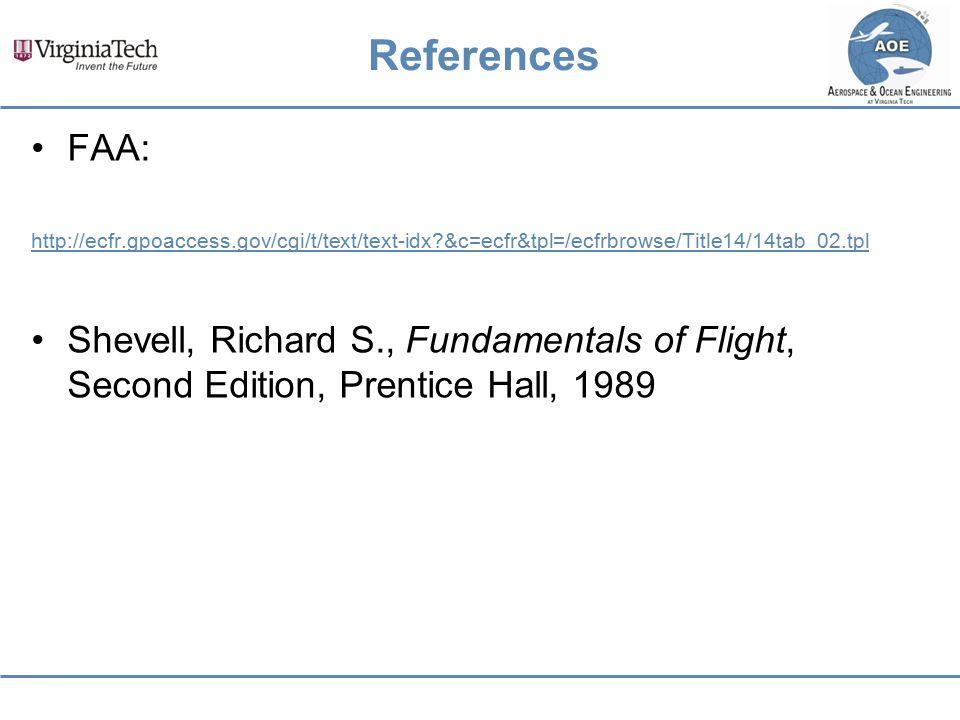 References FAA: http://ecfr.gpoaccess.gov/cgi/t/text/text-idx &c=ecfr&tpl=/ecfrbrowse/Title14/14tab_02.tpl.