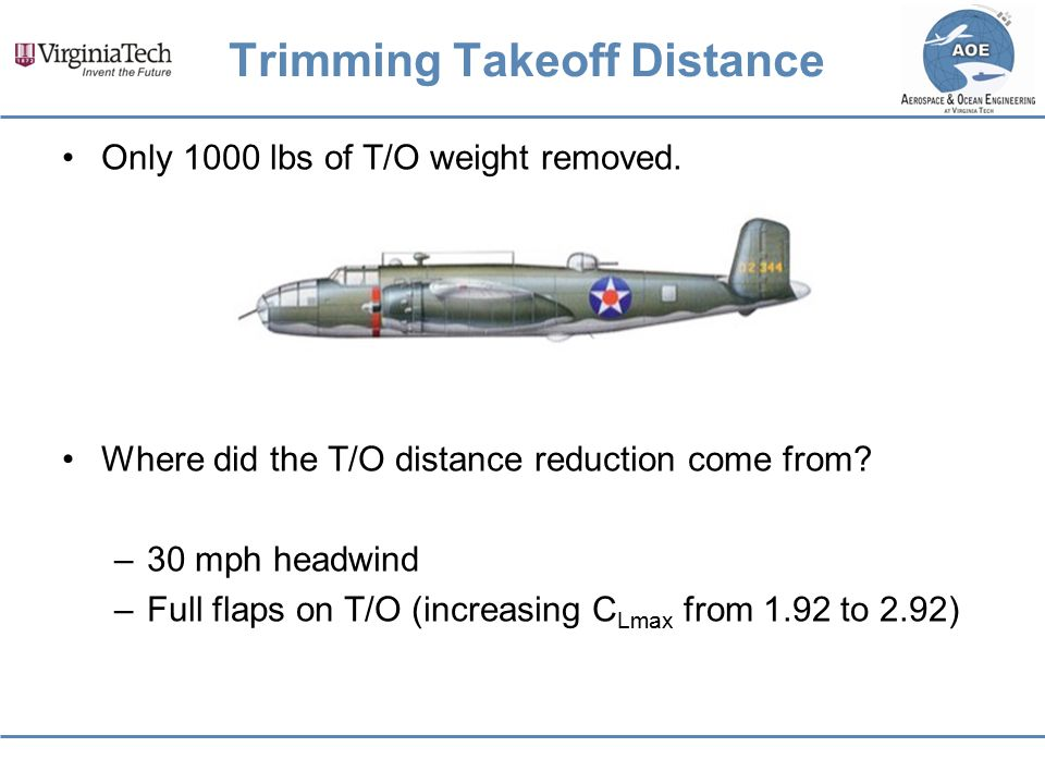 Trimming Takeoff Distance
