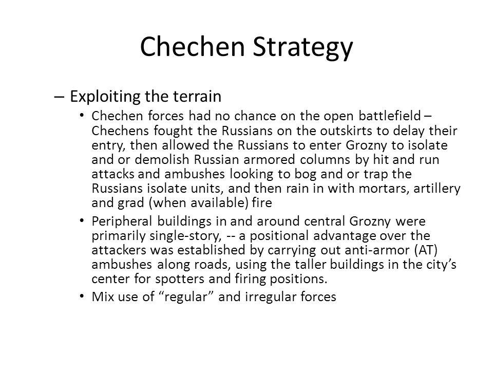 Chechen Strategy Exploiting the terrain