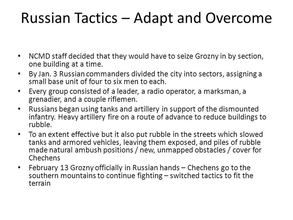 Russian Tactics – Adapt and Overcome