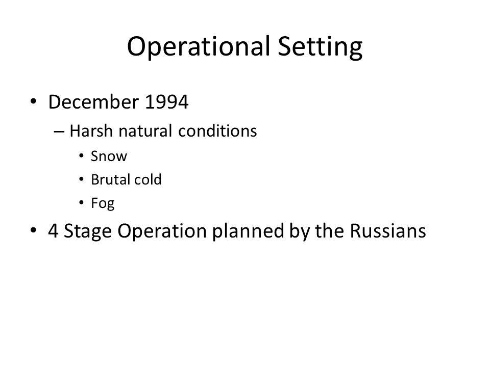 Operational Setting December 1994