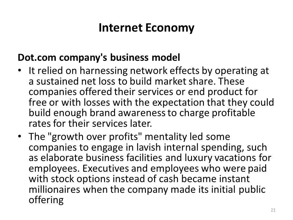 Internet Economy Dot.com company s business model