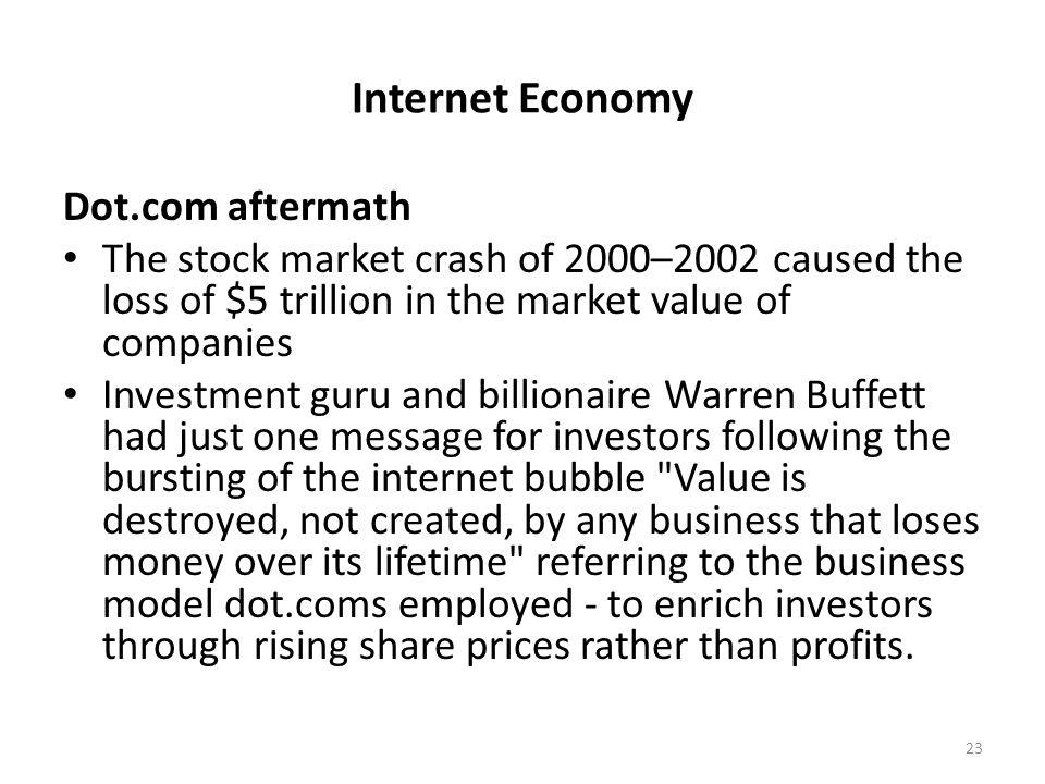 Internet Economy Dot.com aftermath