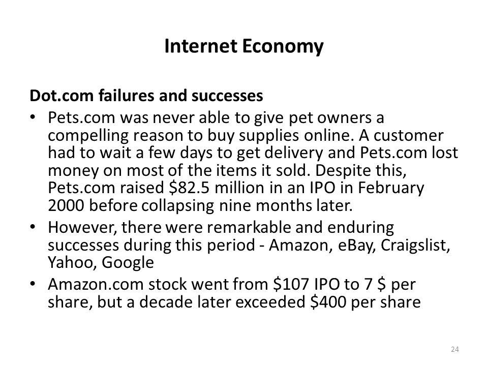 Internet Economy Dot.com failures and successes