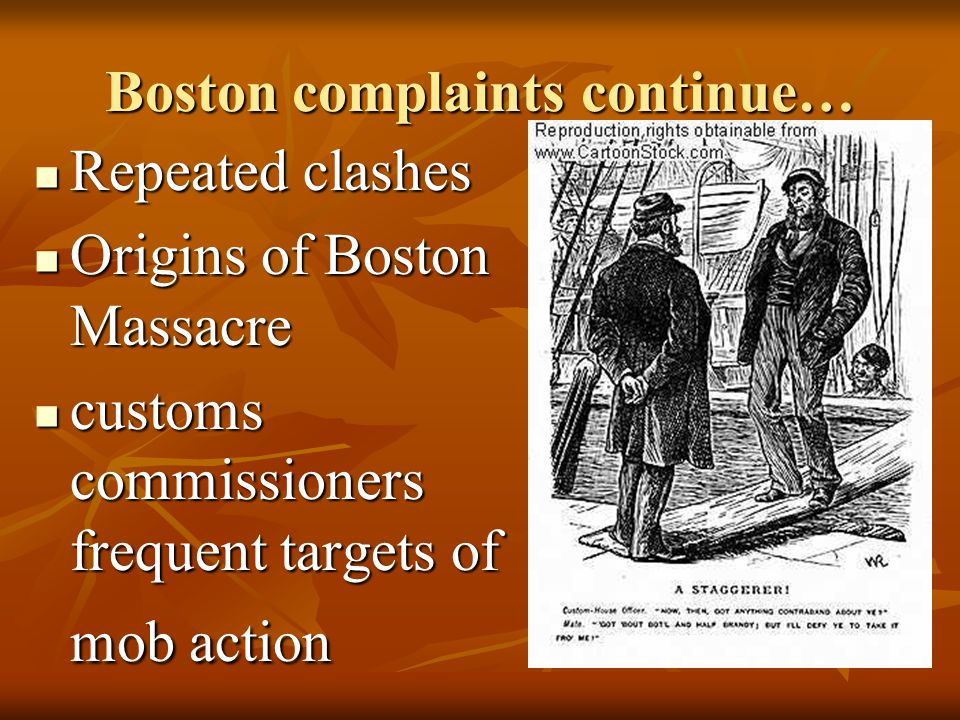 Boston complaints continue…