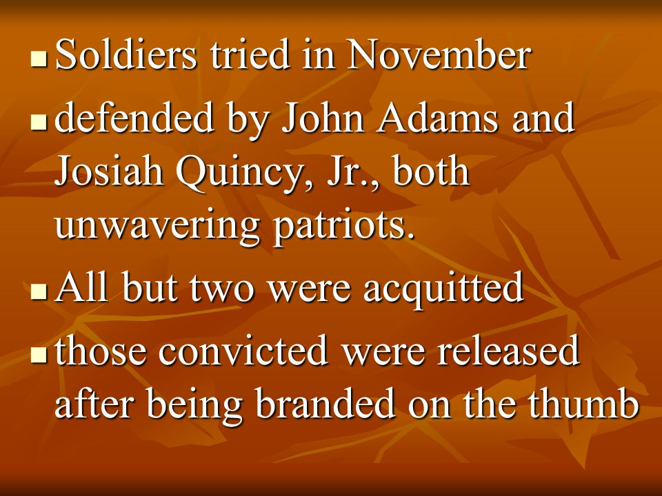 Soldiers tried in November