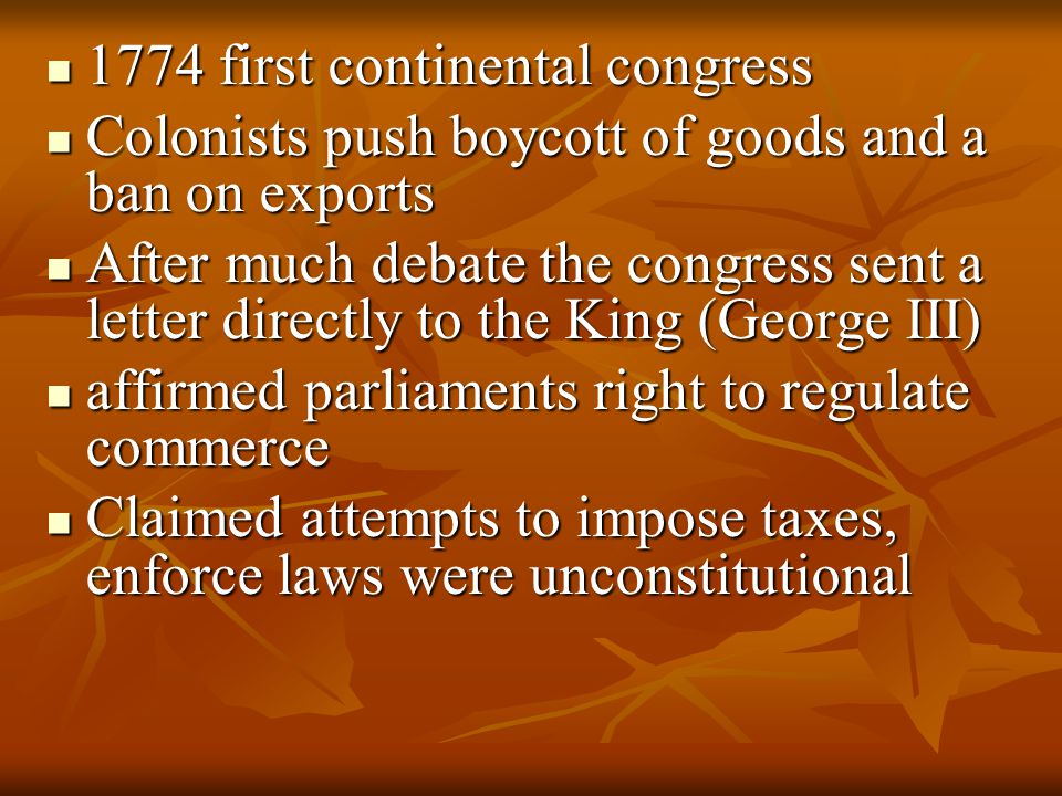 1774 first continental congress
