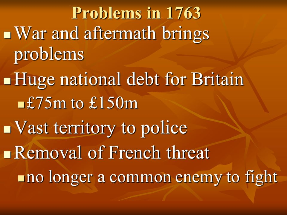 War and aftermath brings problems Huge national debt for Britain