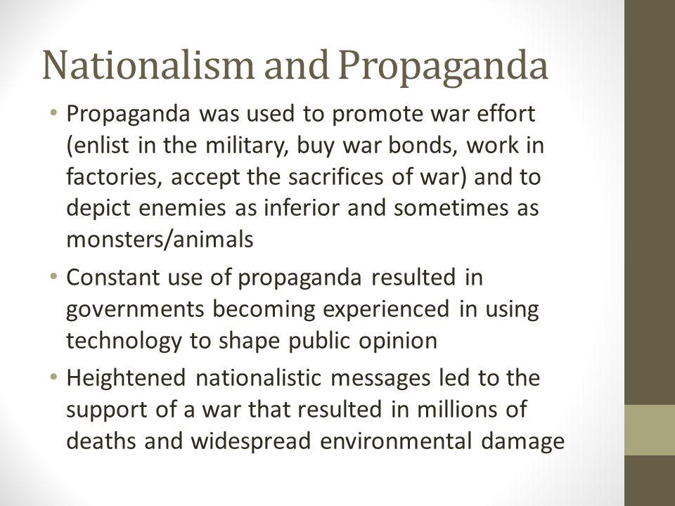 Nationalism and Propaganda