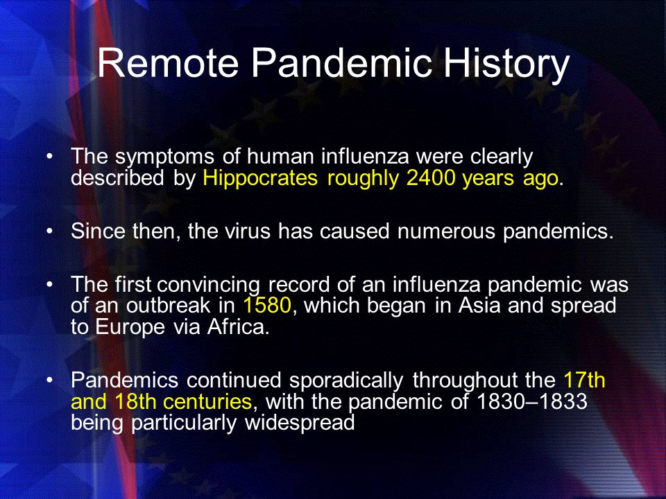 Remote Pandemic History