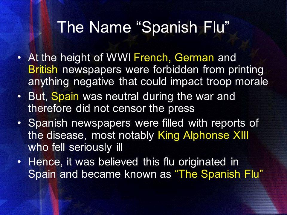The Name Spanish Flu