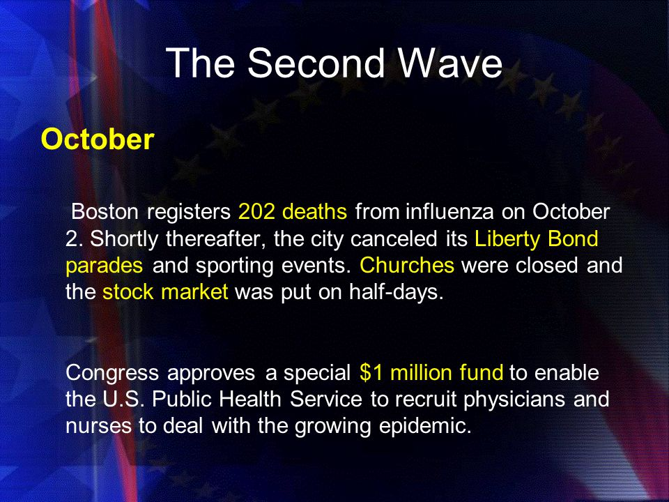 The Second Wave October