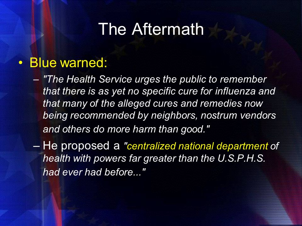 The Aftermath Blue warned:
