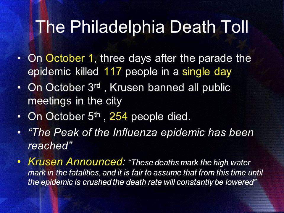 The Philadelphia Death Toll