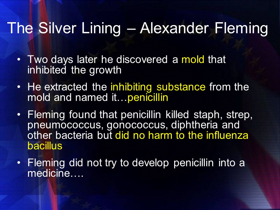 The Silver Lining – Alexander Fleming