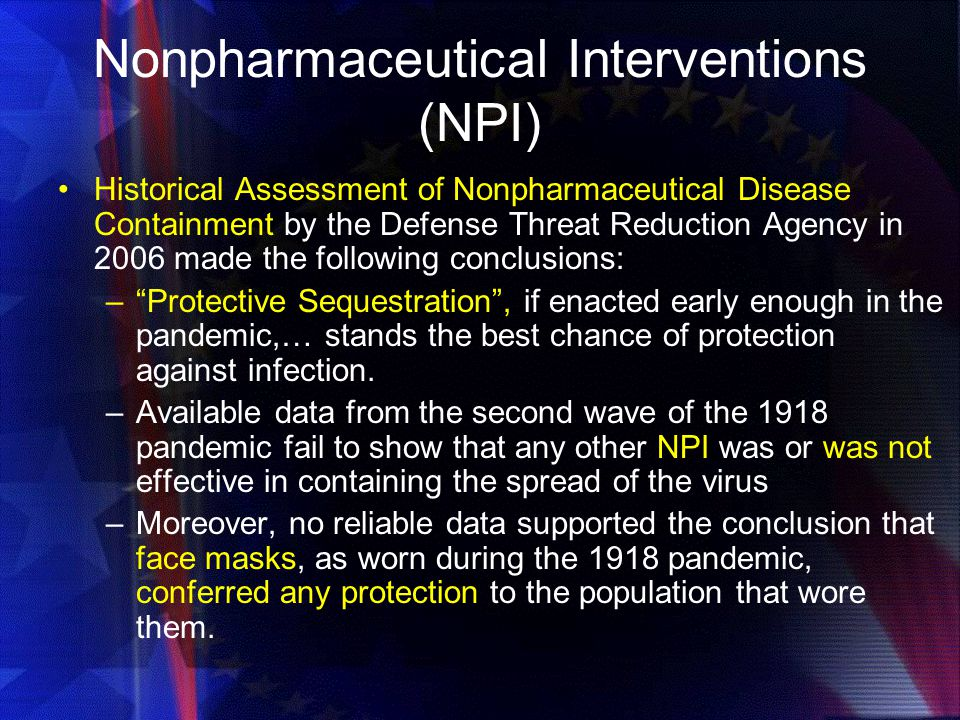 Nonpharmaceutical Interventions (NPI)