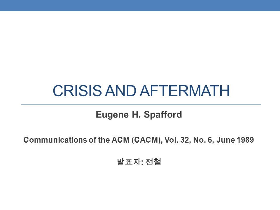 Communications of the ACM (CACM), Vol. 32, No. 6, June 1989