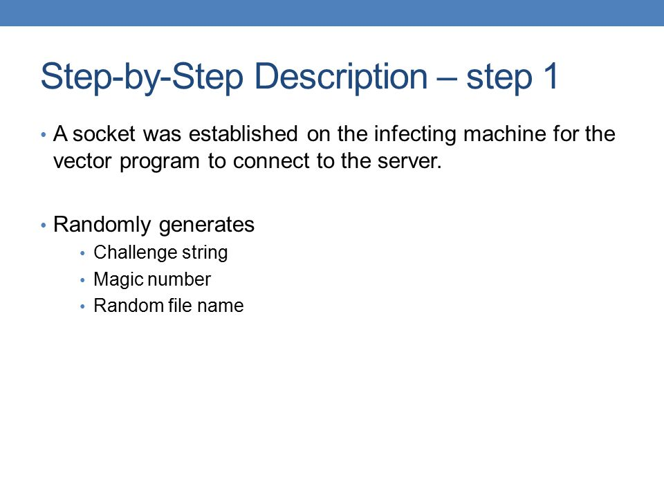 Step-by-Step Description – step 1