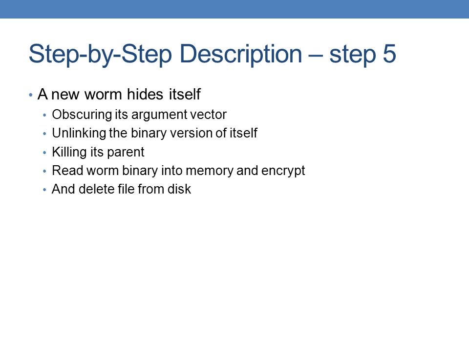 Step-by-Step Description – step 5