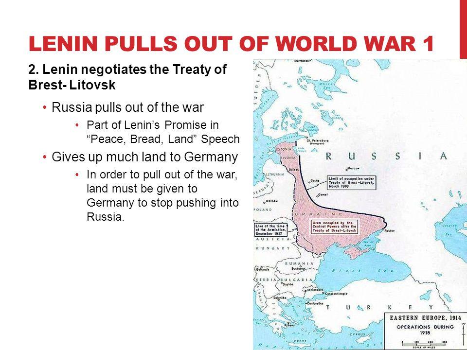 Lenin pulls out of World War 1