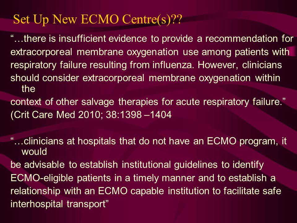 Set Up New ECMO Centre(s)