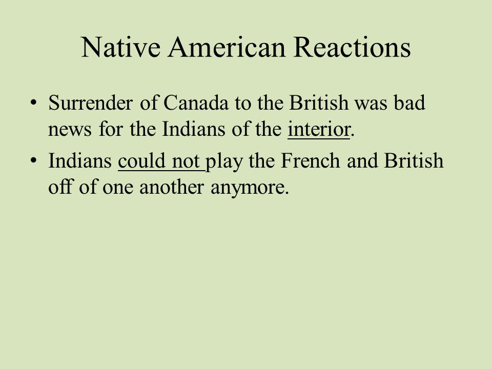 Native American Reactions