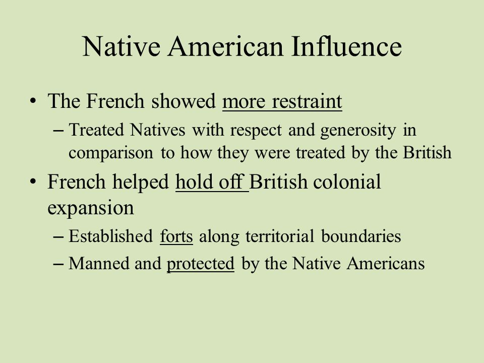 Native American Influence
