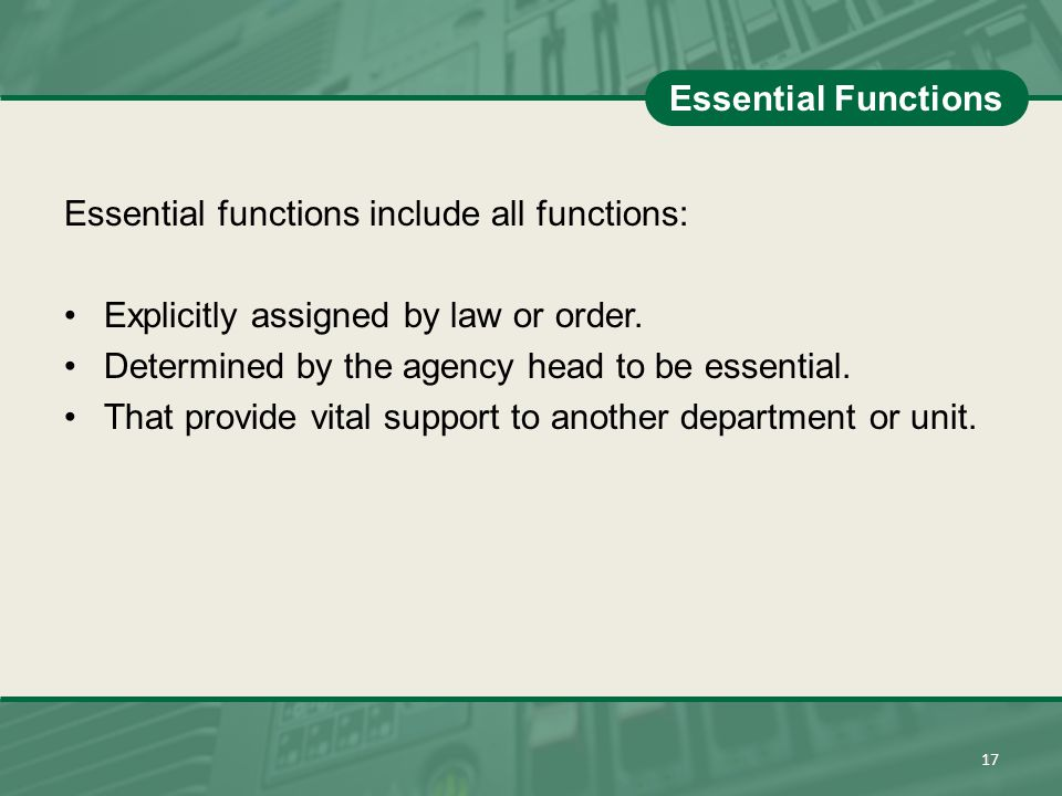 Essential functions include all functions:
