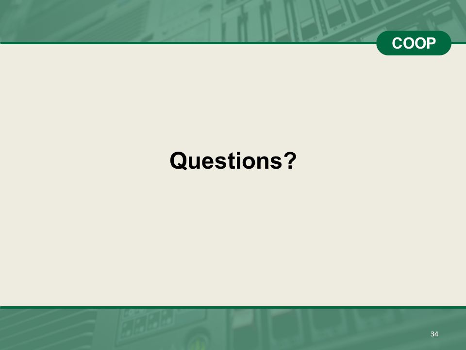 COOP Questions 34 34