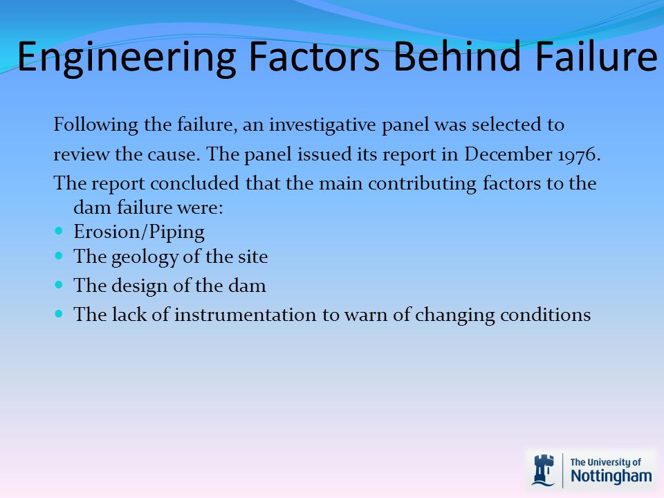 Engineering Factors Behind Failure