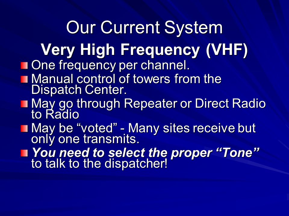 Very High Frequency (VHF)
