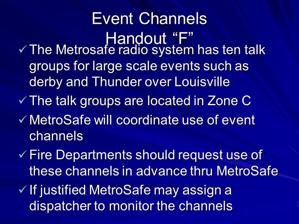 Event Channels Handout F