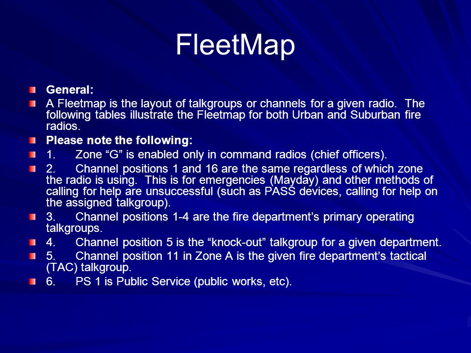 FleetMap General: