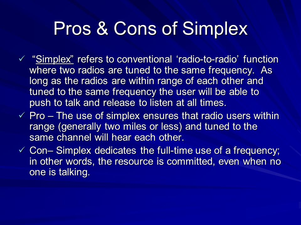 Pros & Cons of Simplex