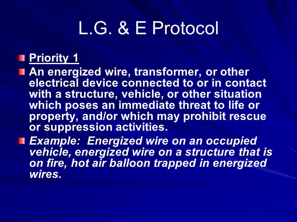 L.G. & E Protocol Priority 1