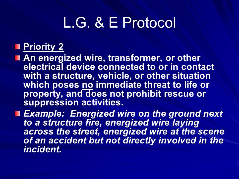 L.G. & E Protocol Priority 2