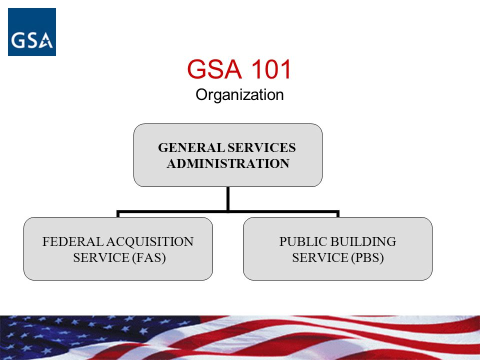 GSA 101 Organization