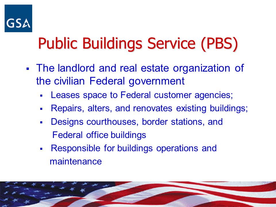 Public Buildings Service (PBS)