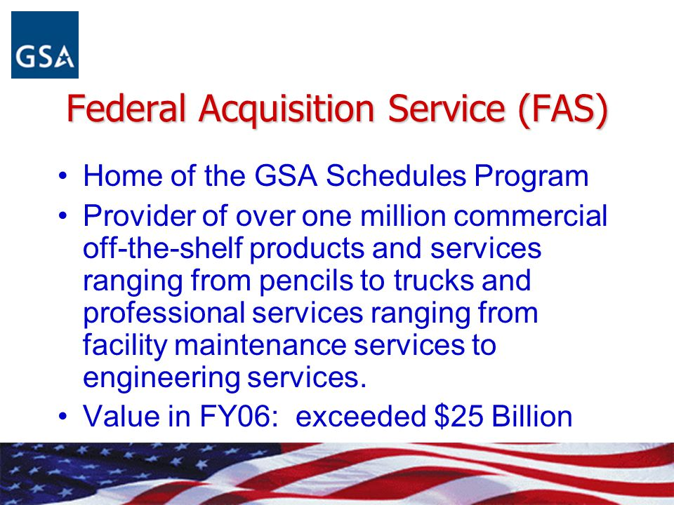 Federal Acquisition Service (FAS)